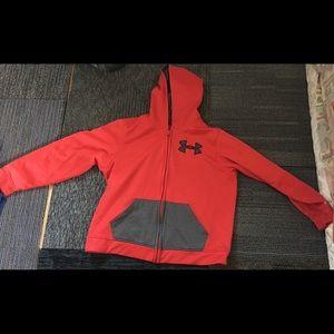 Red Under Armour Zip-Up Sweatshirt